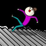 階段から落ちる人