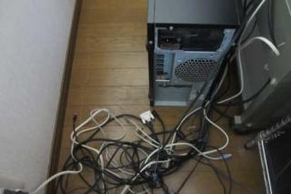パソコンの配線